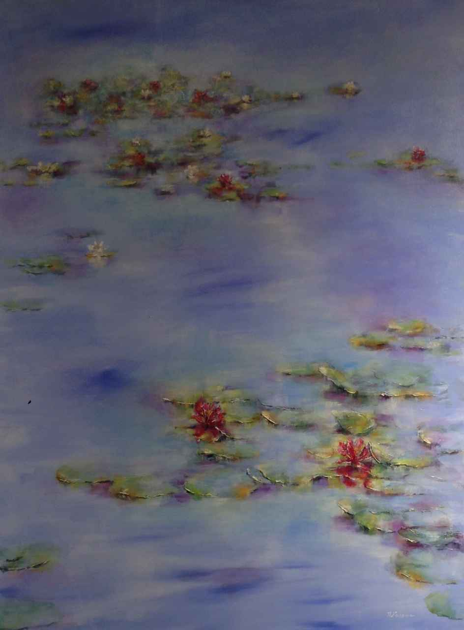 Red Lilies by  Nadia Lassman - Masterpiece Online