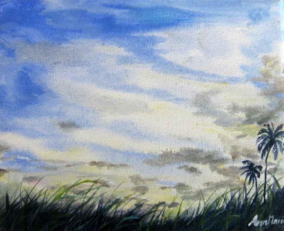 Bajan Sunset Fields by  Sheri Ann Marie Nicholls - Masterpiece Online