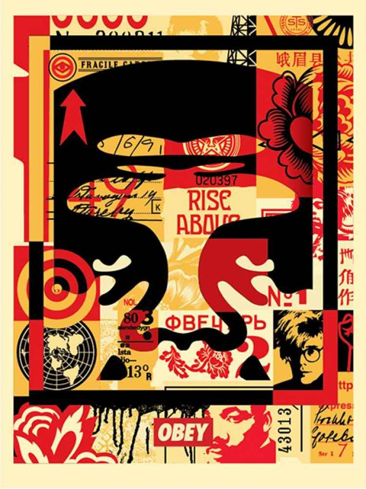 Obey Giant Collage (T... by  Shepard Fairey - Masterpiece Online