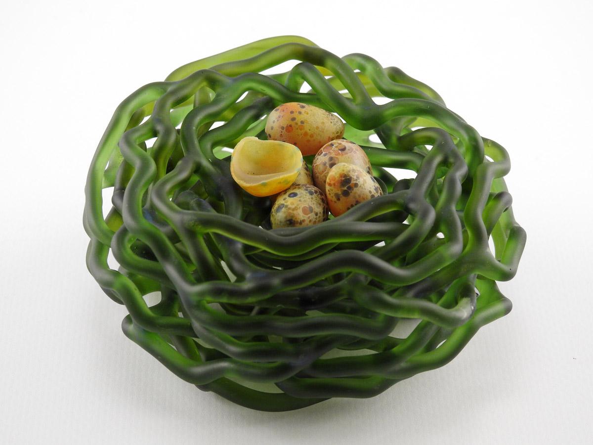 Mini Nest/Green by  Demetra Theofanous - Masterpiece Online