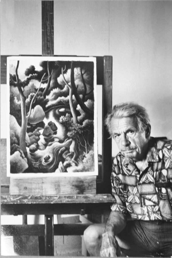 Thomas Hart Benton wi... by  Alfred Eisenstaedt - Masterpiece Online