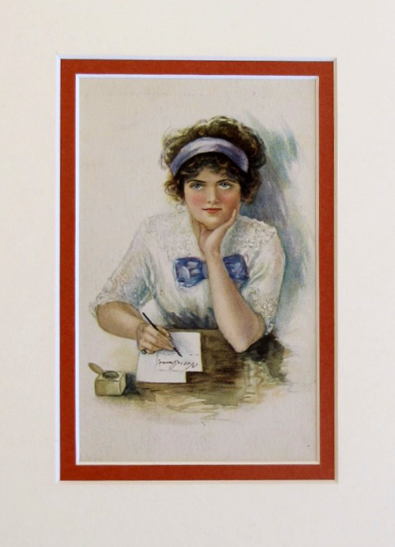 Woman writing letter by    - Masterpiece Online