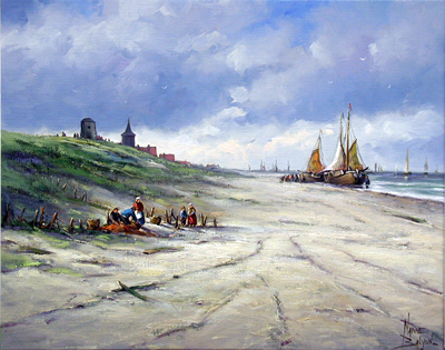 Fishing Boats North S... by  Nanne  Balyon  - Masterpiece Online