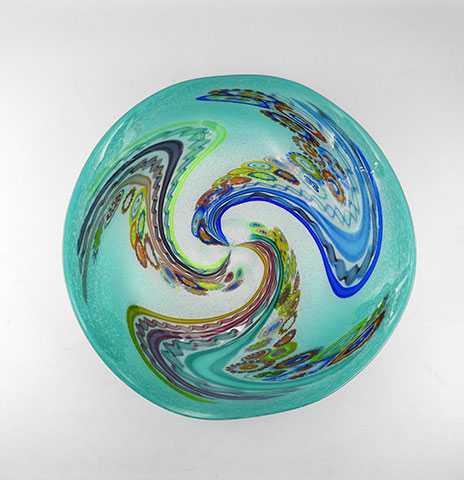 Wall Platter/Teal Mur... by  Cliff Goodman - Masterpiece Online