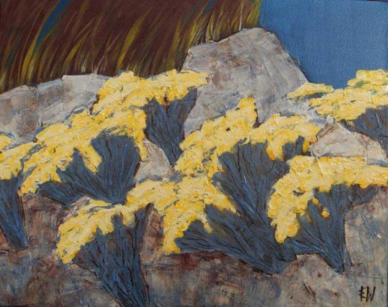 Rabbit Brush in Bloom by  Ingrid Winkler - Masterpiece Online