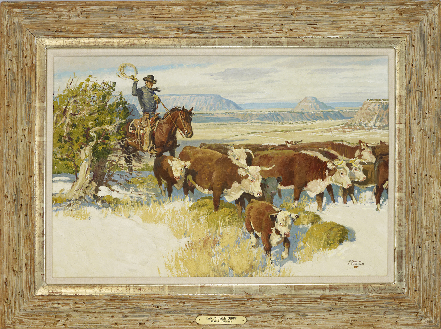 Early Fall Snow/SOLD!... by  Robert Lougheed - Masterpiece Online