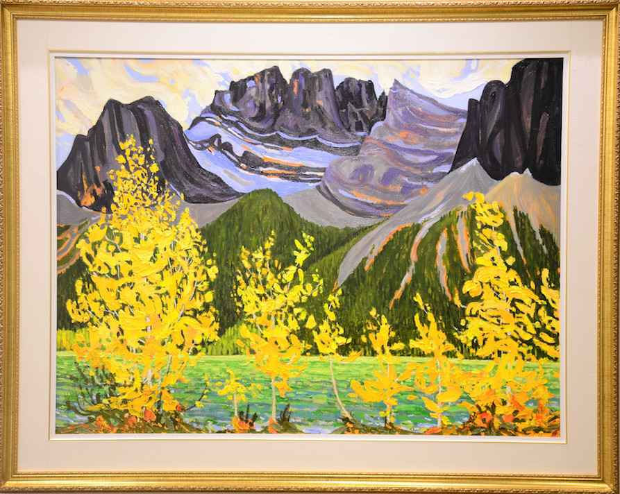 Rockies in Fall, Canm... by Mr. Dennis Brown - Masterpiece Online