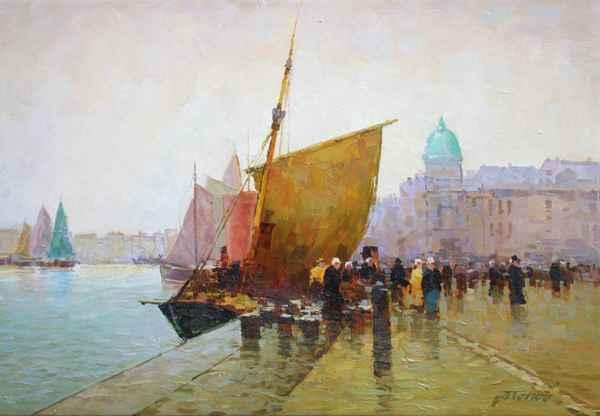In the Harbor by  Alexander Popoff  - Masterpiece Online
