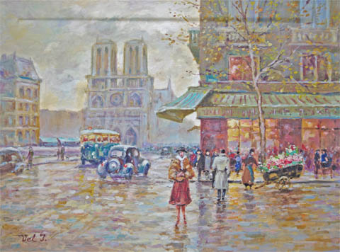 Notre Dame After The ... by  Vel  Ivanovitch  - Masterpiece Online