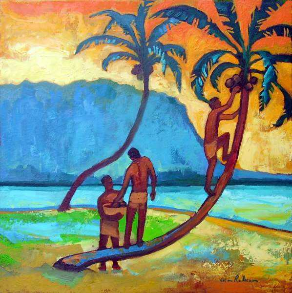 Coconut Pickers by  Colin Redican - Masterpiece Online