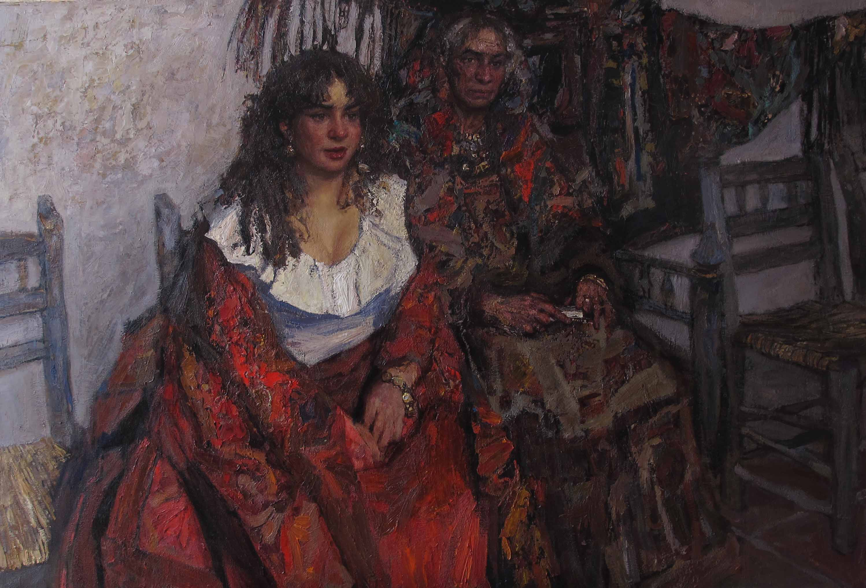 Singer and the Fortun... by  Daud Akhriev - Masterpiece Online