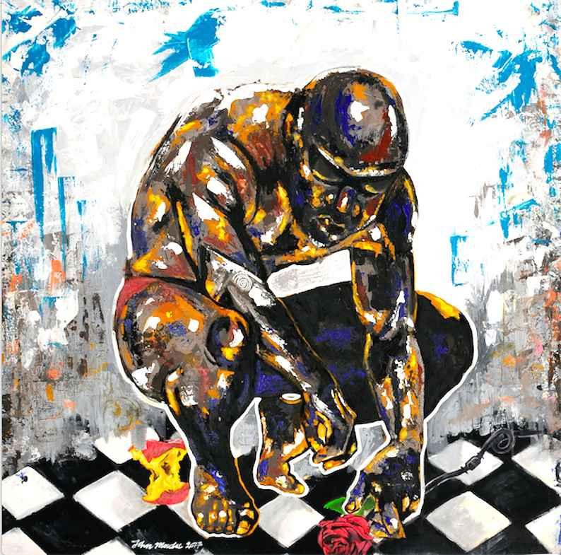 The Thinker by Mr John Madu - Masterpiece Online
