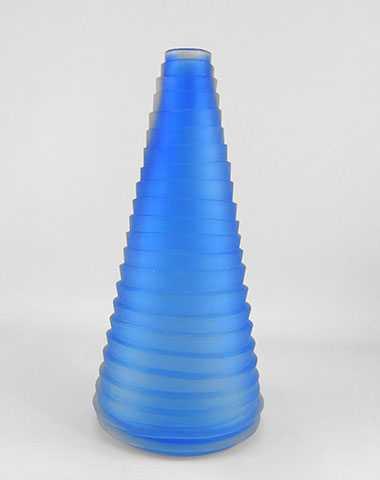 Aqua  Cone Vase by  Brad Copping - Masterpiece Online