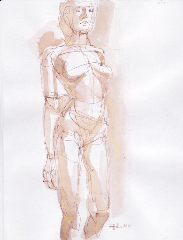 Figure Sketch: 17 by  Melissa Hefferlin - Masterpiece Online