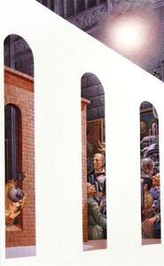 Men Behind Wall Drink... by  Andren And Olga Dugin - Masterpiece Online