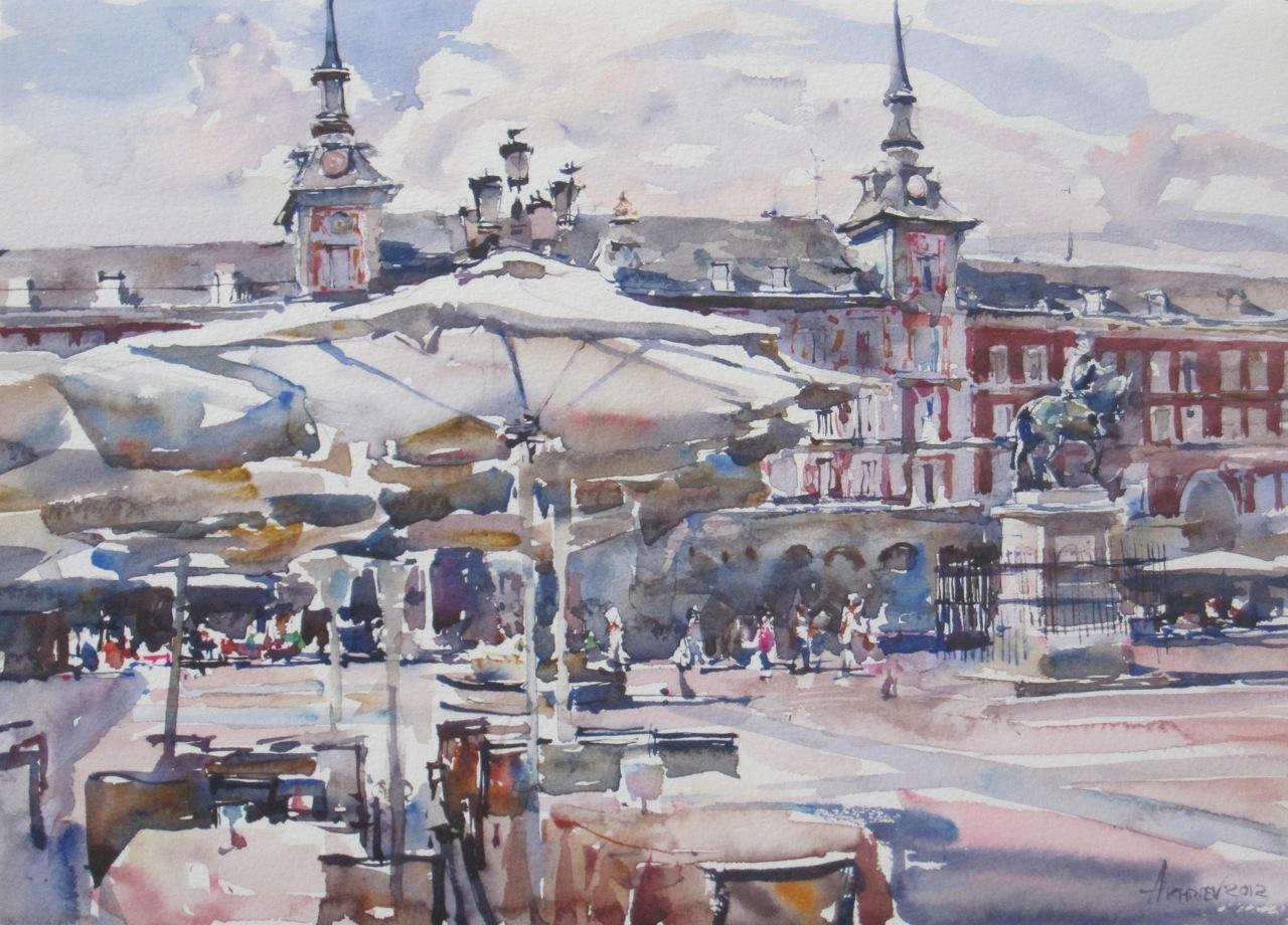 Plaza Mayor by  Daud Akhriev - Masterpiece Online