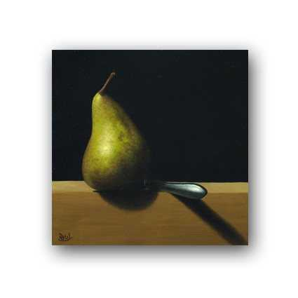 Pear And Knife represented  by  Paul Coventry-Brown