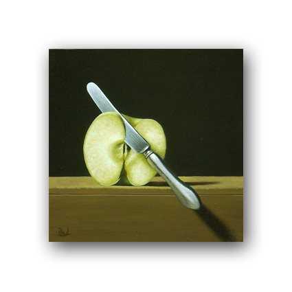 Sliced Apple And Knife