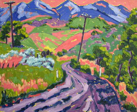Purple Mountains by  Char  Michelson  - Masterpiece Online