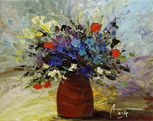 Blue Bouquet by  Louis  Magre - Masterpiece Online