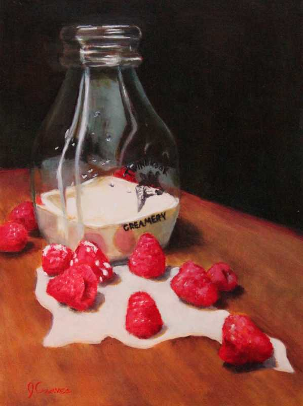 Raspberry and Cream by  Janis Graves - Masterpiece Online