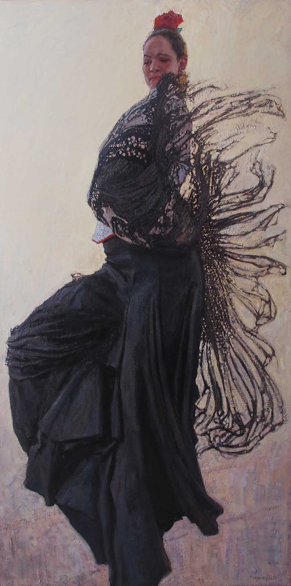 Marta: Firebird (oil) by  Daud Akhriev - Masterpiece Online