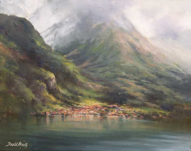 Hills of Lake Como by  David Marty - Masterpiece Online
