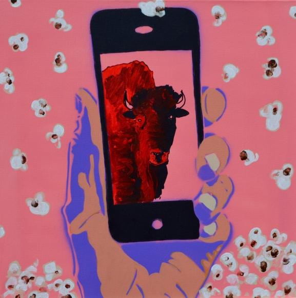 Bison Selfie by  Frank Buffalo Hyde - Masterpiece Online