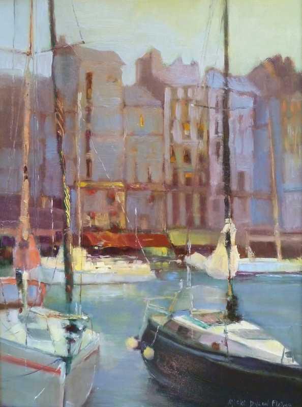 Boats of Honfleur  by  Micki Dyson Flatmo