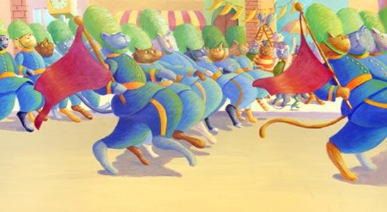 Cat March  by  Diane Greenseid
