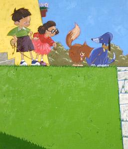 Kids Walking Dogs