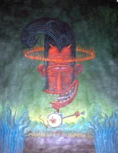 Banjo Pickin Satan  by  Keith Graves