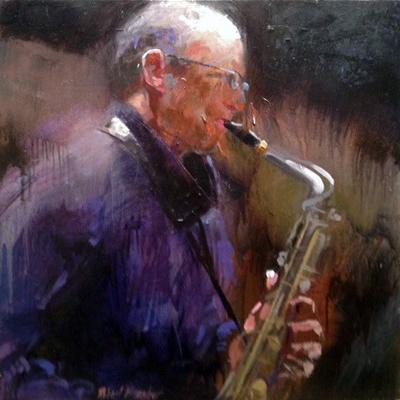 The Sax Player by  Robert  Brasher  - Masterpiece Online