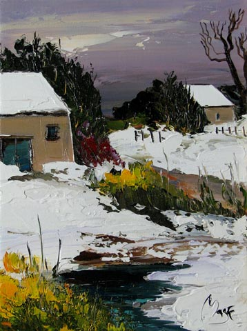 Winter Snowfall by  Louis  Magre - Masterpiece Online