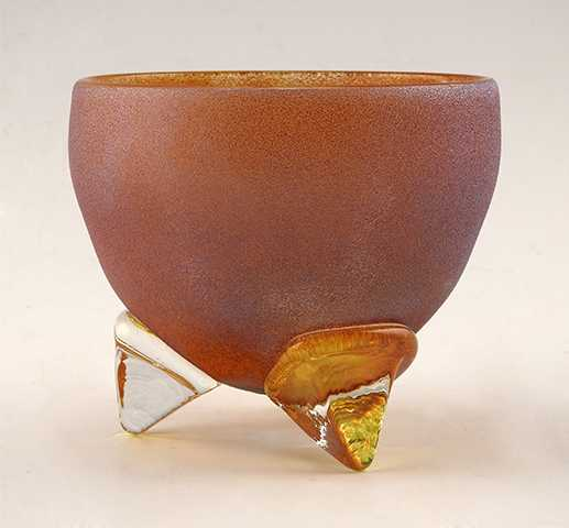 Tri-Foot Bowl/Gold by  Gina Lunn - Masterpiece Online