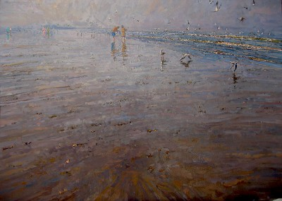 Morning Beach Walk by  Daud Akhriev - Masterpiece Online