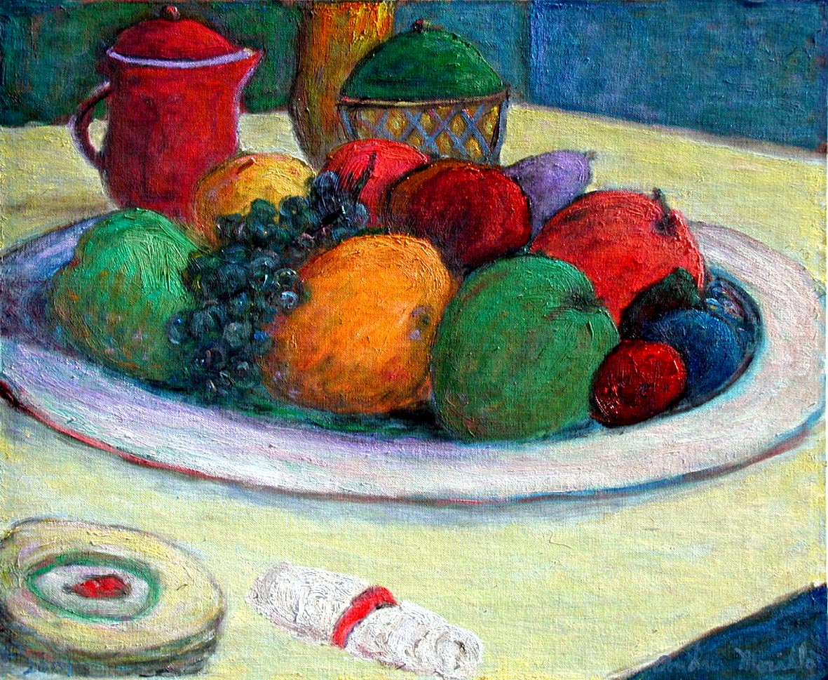 A Plate of Fruit by  Andres  Morillo - Masterpiece Online