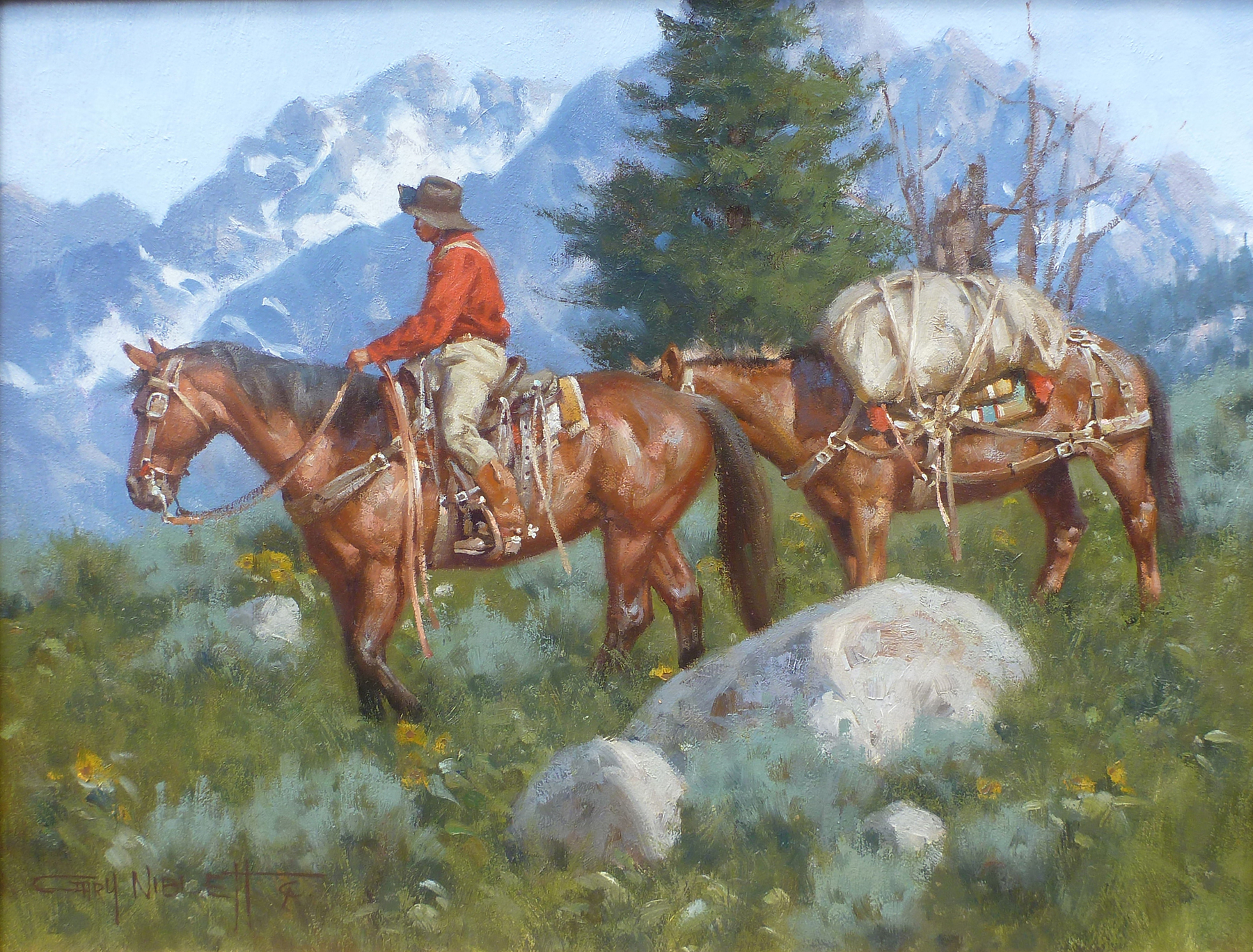 Trailing the Tetons by Mr. & Mrs. Gary Niblett - Masterpiece Online