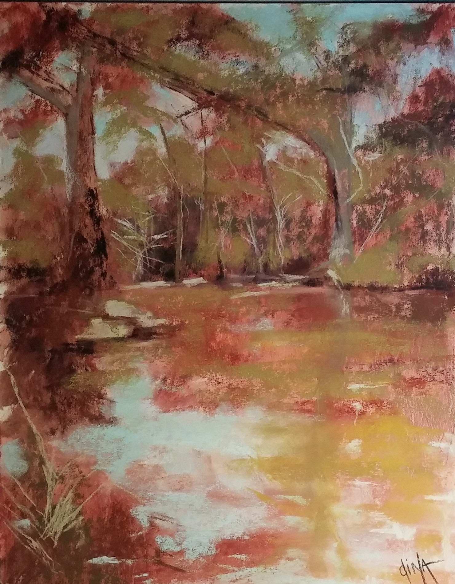 Cypress Shadows by Mrs Dina Gregory - Masterpiece Online
