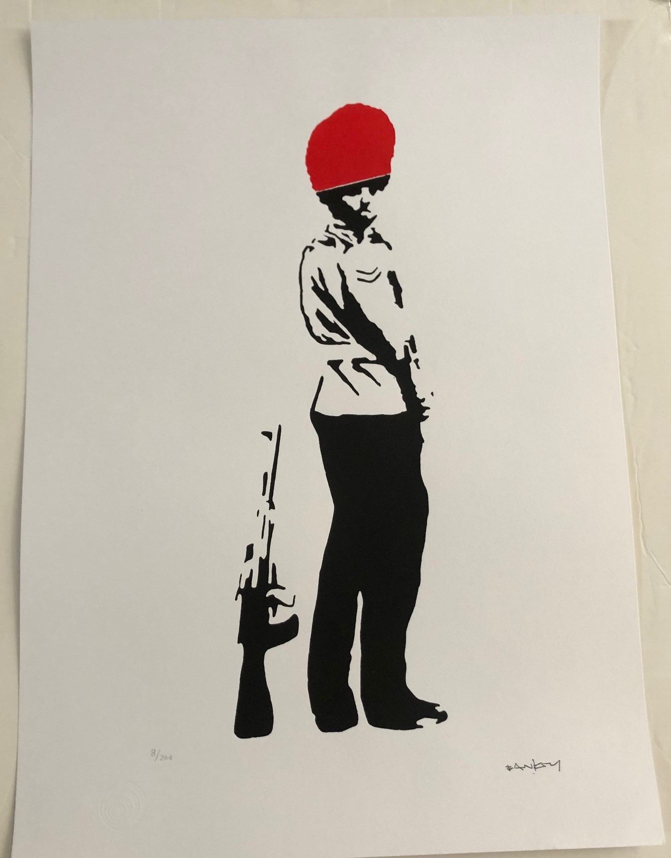 Pissing Guard- Red (A... by   Banksy - Masterpiece Online