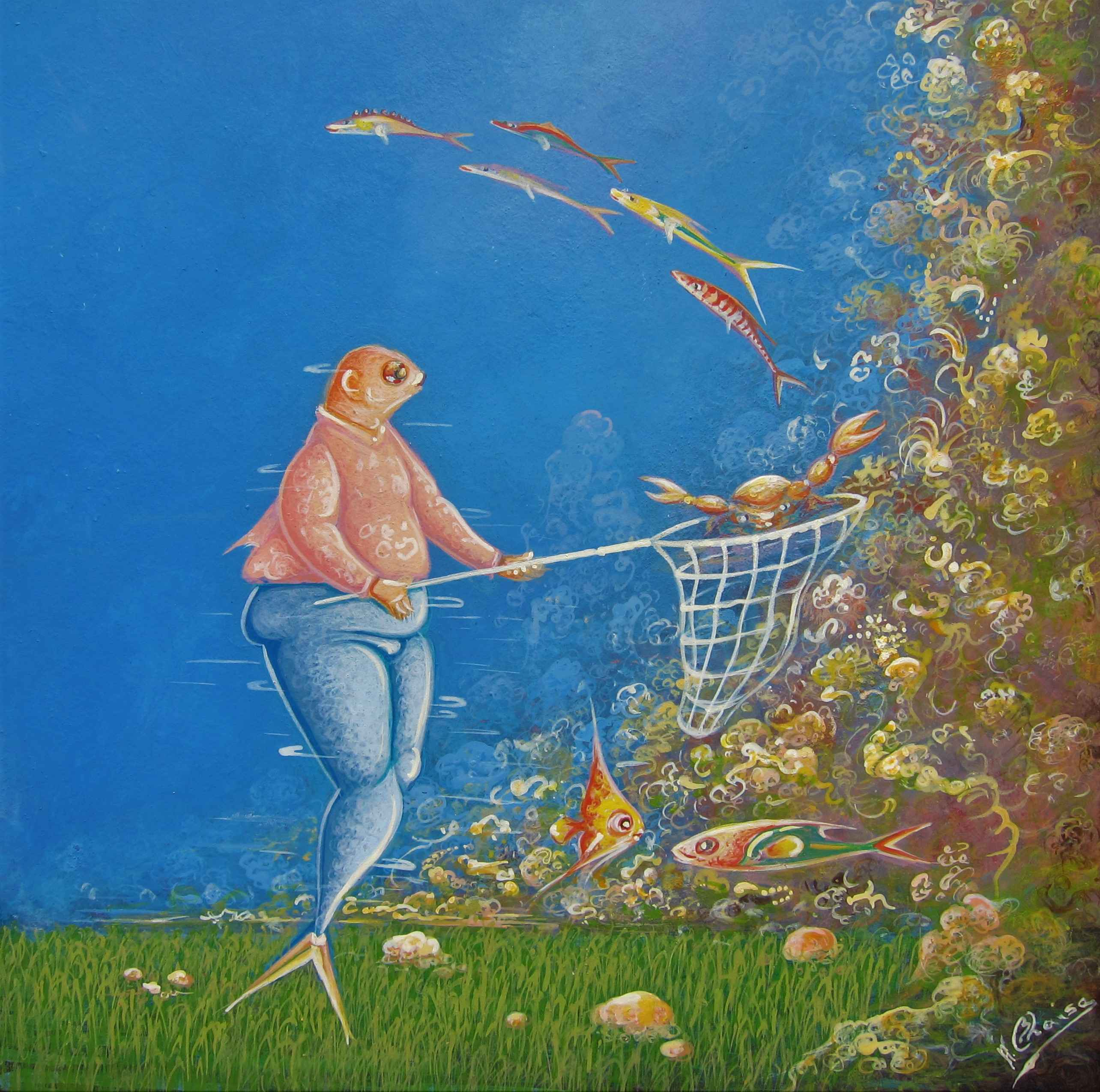 Fishing Day by  Andre BLAISE - Masterpiece Online