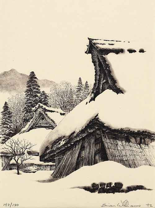 Snow Covered Thatched... by  Brian Williams - Masterpiece Online