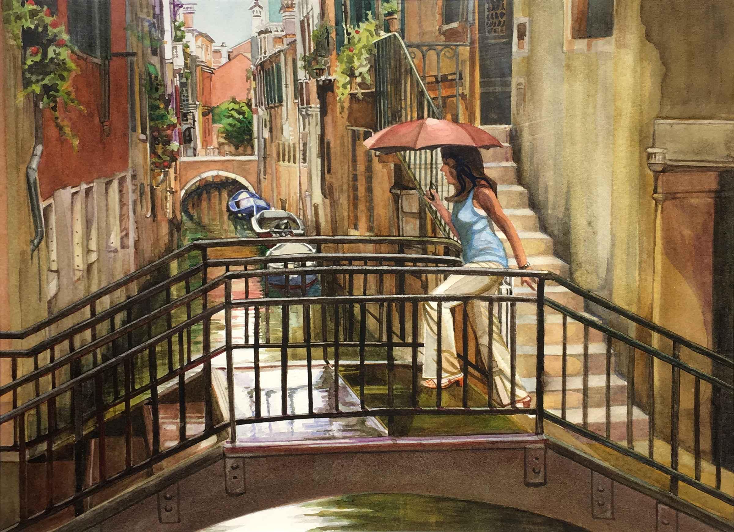 Bridge at Sotoportego... by  Margaret Buie - Masterpiece Online