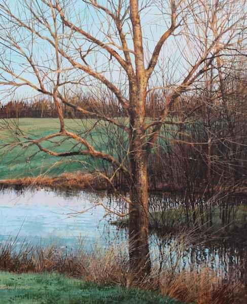 Poplar Tree - Late Ev... by  Michael Wheeler - Masterpiece Online