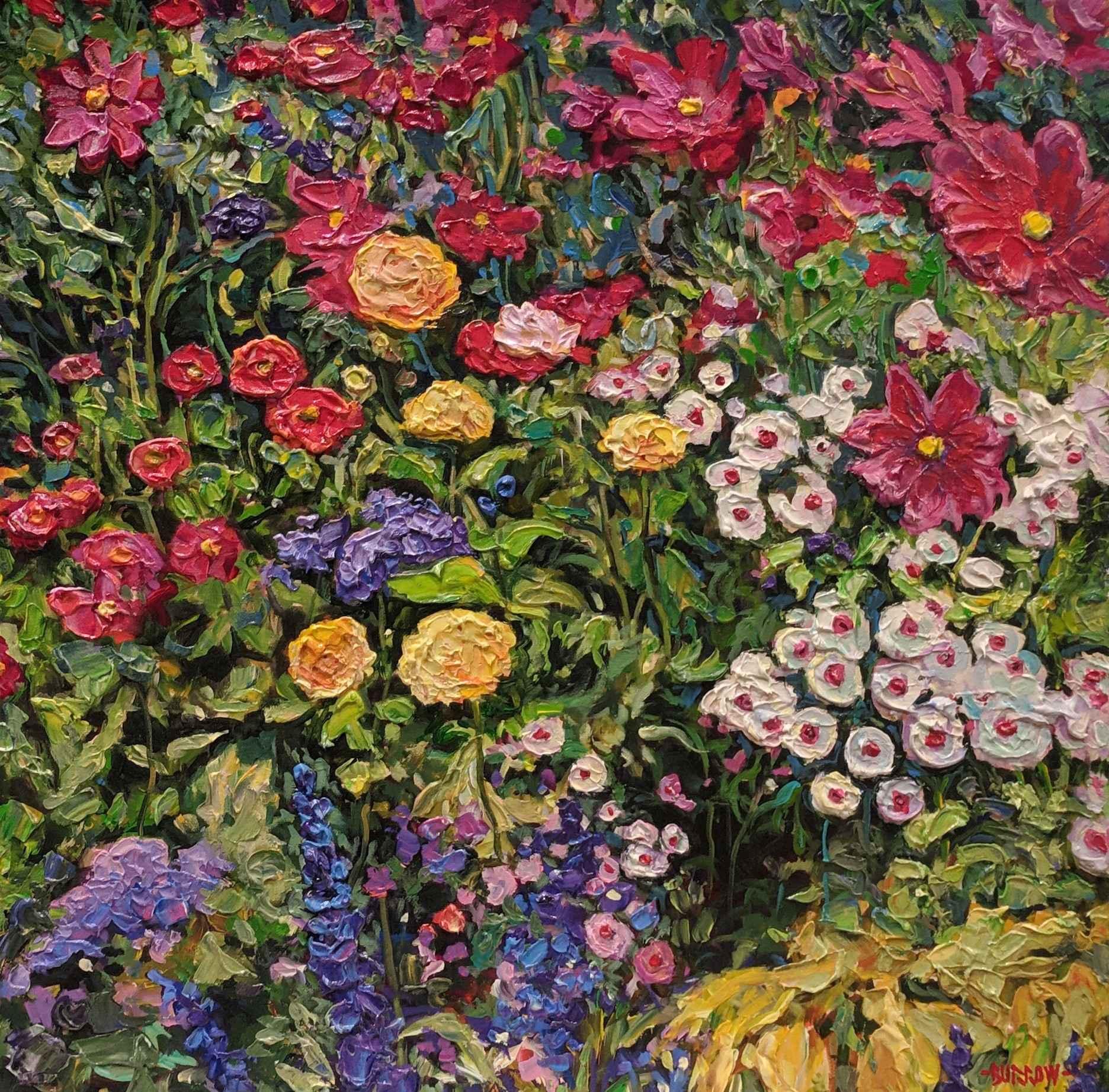 Multi Colour Floral by Mr John Burrow - Masterpiece Online