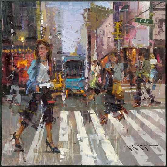 7th Ave, N.Y. by  Mostafa Keyhani - Masterpiece Online