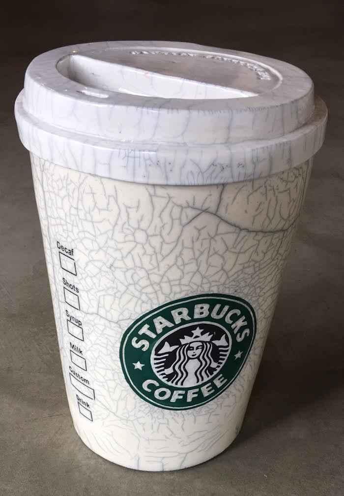 Starbucks Coffee Cup  by  Karen Shapiro