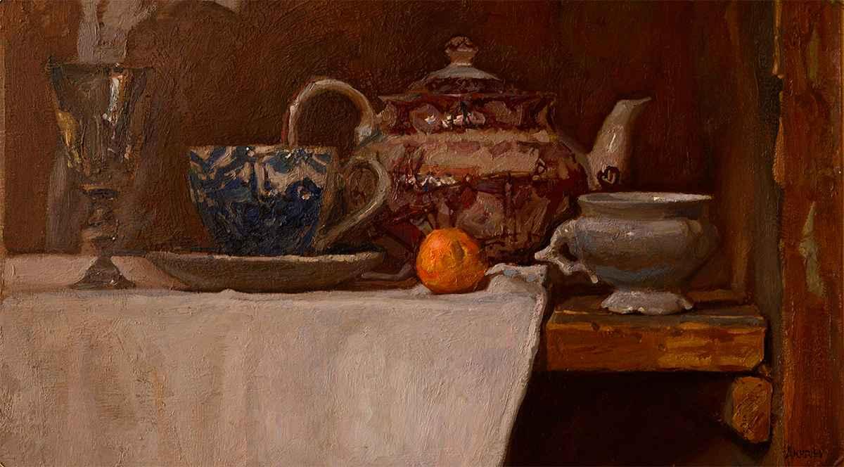 Tea in Tuscany by  Daud Akhriev - Masterpiece Online