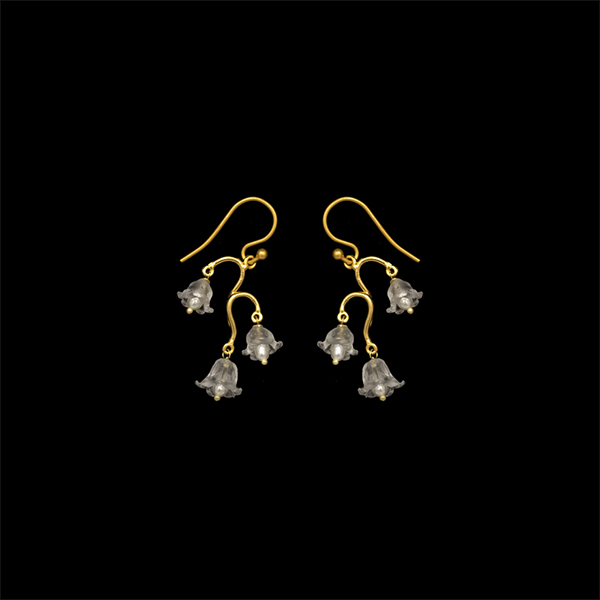 Lily of the Valley Dainty Wire Earrings