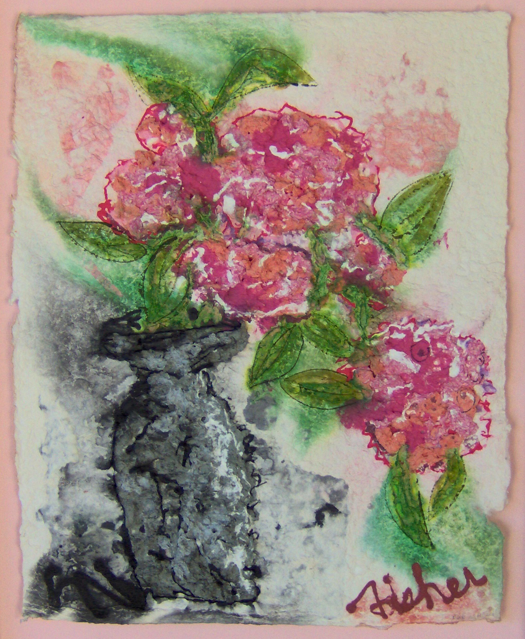 Pink In Black by  Mary Fisher - Masterpiece Online